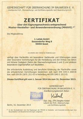 GueB-Zertifikat